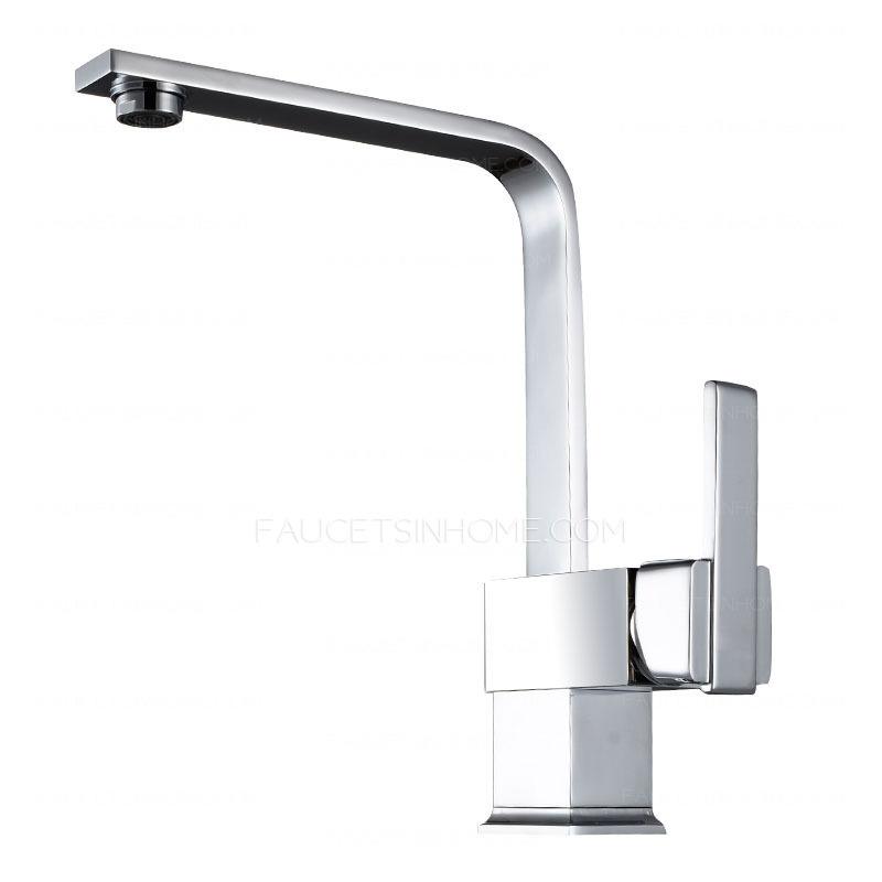 Shape Copper Rotatable Pvd Finish Kitchen Faucets