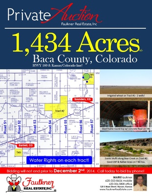 Baca County, Colorado Land for Sale - land for sale flyer