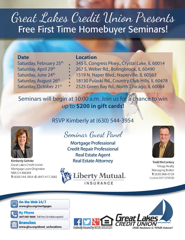 First Time Home Buyer Seminars from Great Lakes Credit Union