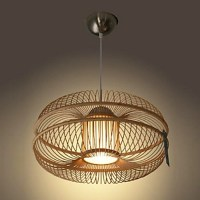 60W Modern Pendant Light in Bamboo Shade (1 Light ...
