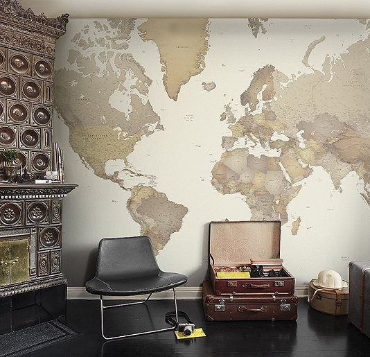 World Map Wall Panel - FaveThing