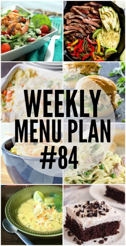 Weekly Menu Plan #84 Favorite Family Recipes
