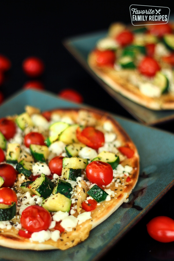 Mediterranean Flatbread Pizza Favorite Family Recipes