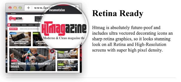 Retina Ready - HTmagazine - Moderne Magazine,News & Blog WordPress Theme