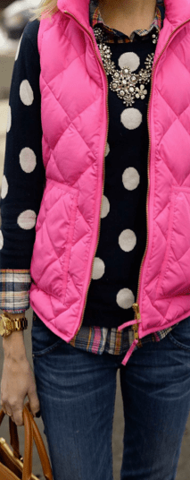 Colored vests with patterns