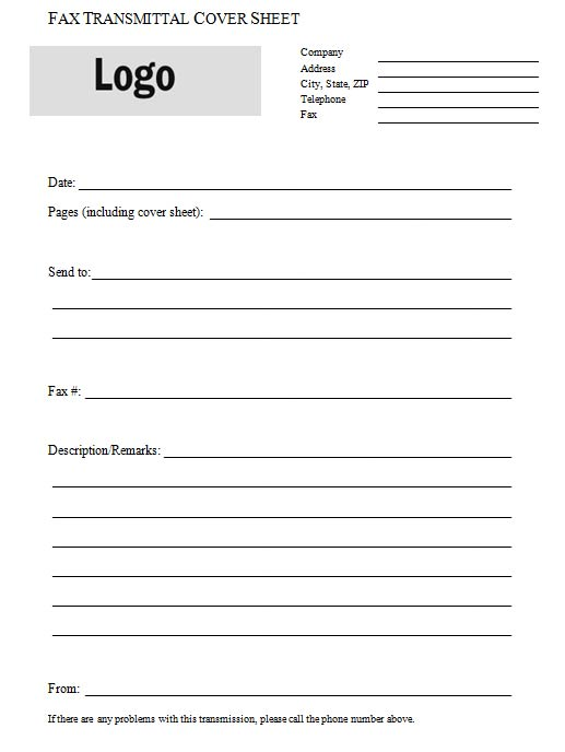 Fax Transmittal Cover Sheet - Fax Letter Format Sample