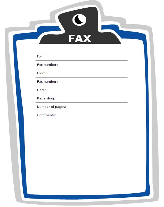 Fax Cover Sheet with Clipboard Design - Fax Letter Format Sample