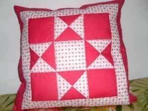 Almofada em patchwork!