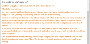 Busted: Amazon Seller Support caught quoting FBA Mastery