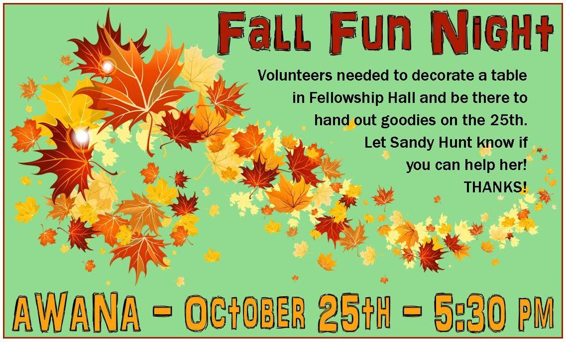 Fall Fun Night - First Baptist Church Florala
