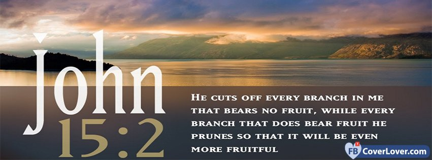 Spiritual Quotes For Laptop Wallpaper John 15 2 Religion Christian Facebook Cover Maker