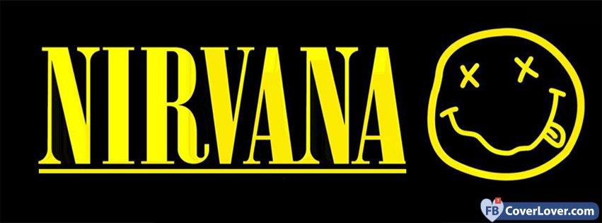 Nirvana Yellow Funny Logo Music Facebook Cover Maker Fbcoverlover