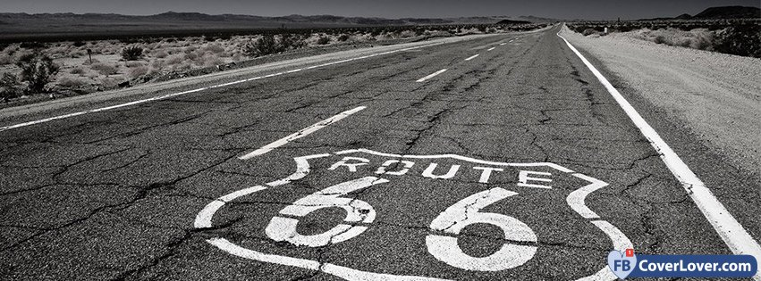 Fb Cover Wallpaper Cute Route 66 Black And White Nature And Landscape Facebook