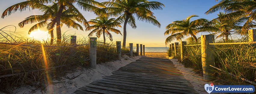 Cute Relationship Quotes Wallpapers Sunset Path To The Beach Nature And Landscape Facebook Cover