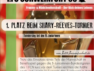 1. Platz beim Shary-Reeves-Turnier