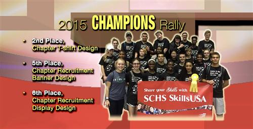 Sandy Creek SkillsUSA Earn Chapter Awards