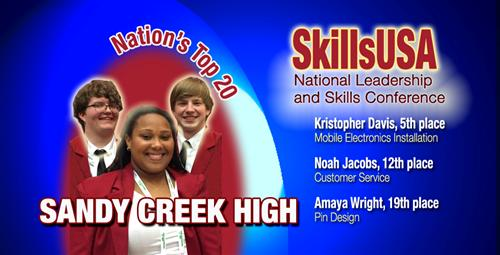 Sandy Creek SkillsUSA Chapter Wins National Honors