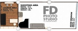 Fashion District Photo Studio for Rent Floor Plan