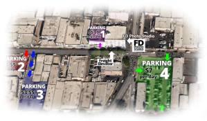 Los Angeles Photo Studio Parking Map
