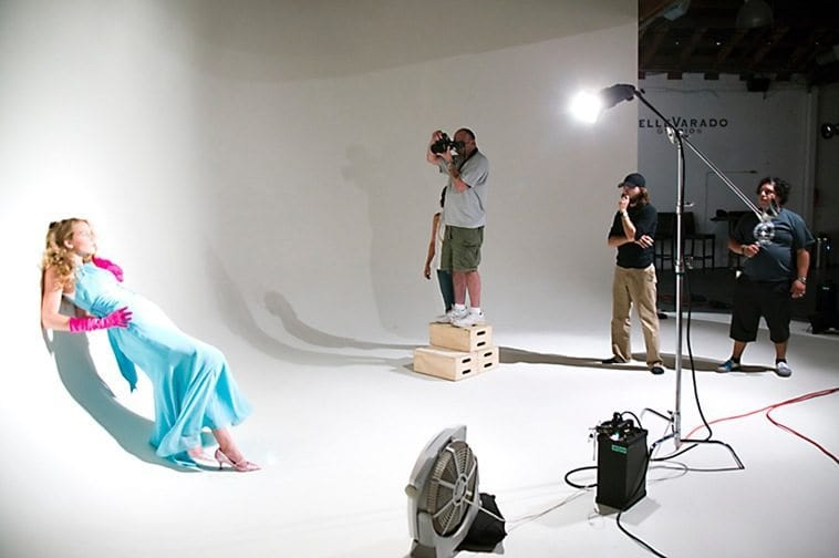 Studio photo shoot