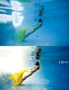 FD Photo Studio retouch, underwater, before & after
