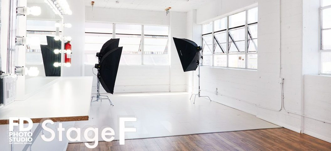 Rental photo studio with downtown view