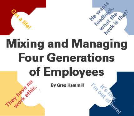 Mixing and Managing Four Generations of Employees - gen y in the workplace