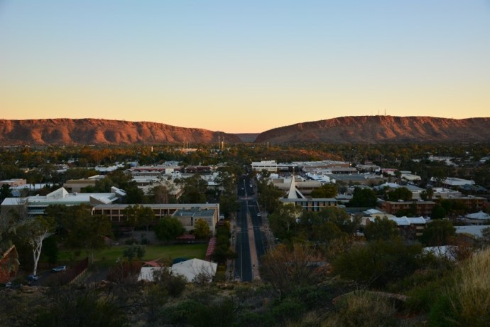 Sunset over Heavitree Gap - Alice Springs