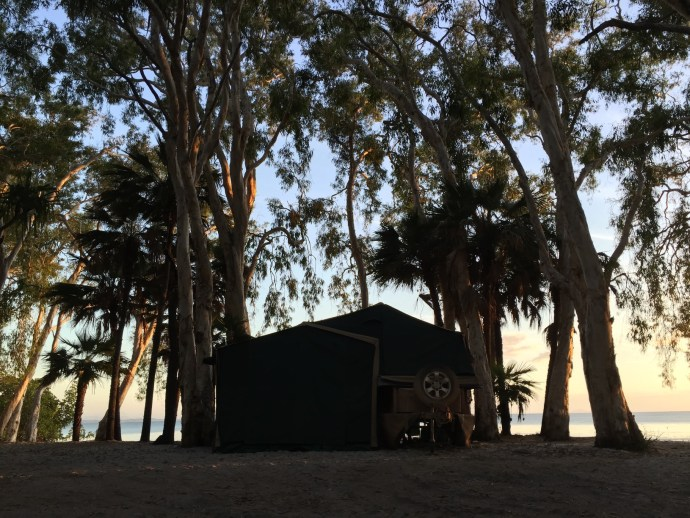 Camp Fealy at Sunset
