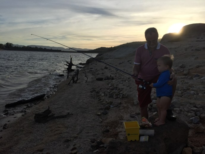 Poppy and Kipp fishing