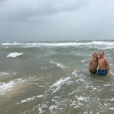 Beach days - it rained the whole time we were there but that didn't stop us!
