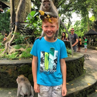 Tobes at the monkey park