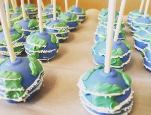 Earth Day Cakepops from Diane's Delights