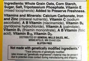 Gluten Free Cheerios ingredients - Fearless Food Allergy Mom