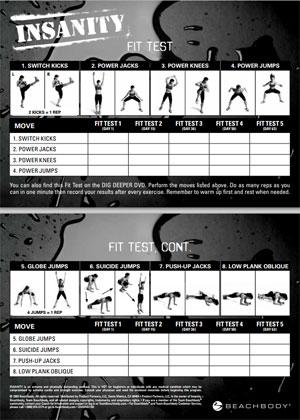 insanity-workout-sheet-fit-test - FearlessLeeFit
