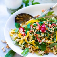 Thai Vegetable Crunch Salad w/ Peanut Dressing