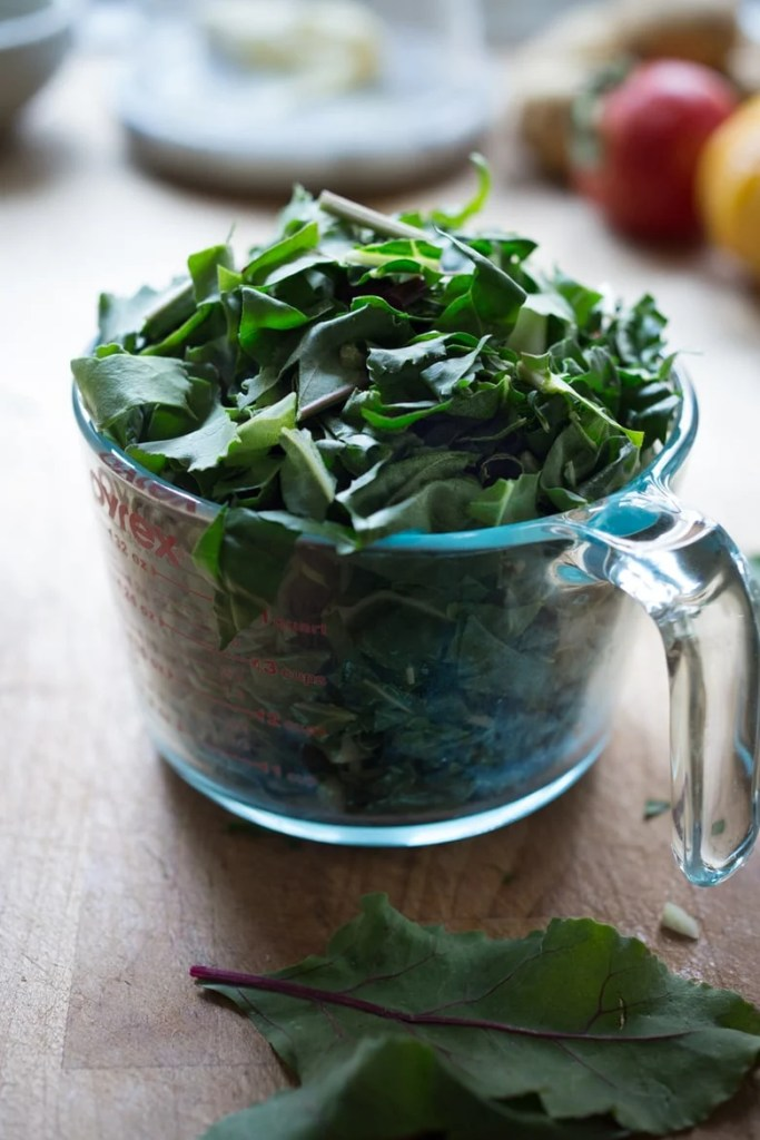 Catalan Style Greens with Garlic, Sultanas and Pine nuts
