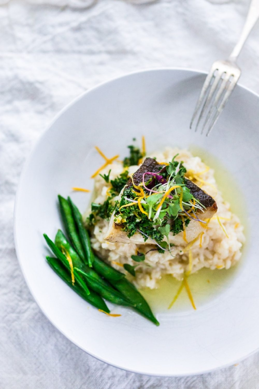 ... Meyer Lemon Risotto and Gremolata- a flavorful green herb sauce. | ww