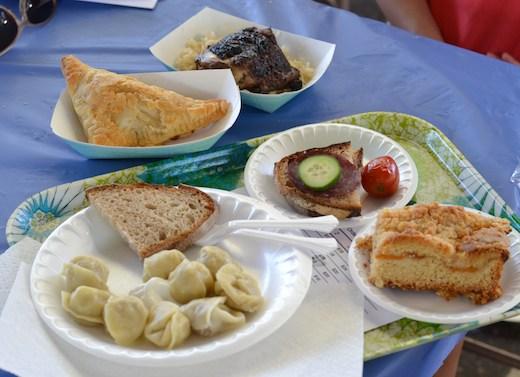Russian Fest Food