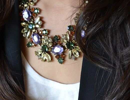 J.Crew Fall Floral necklace