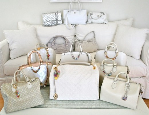 Dlynn's white bag collection