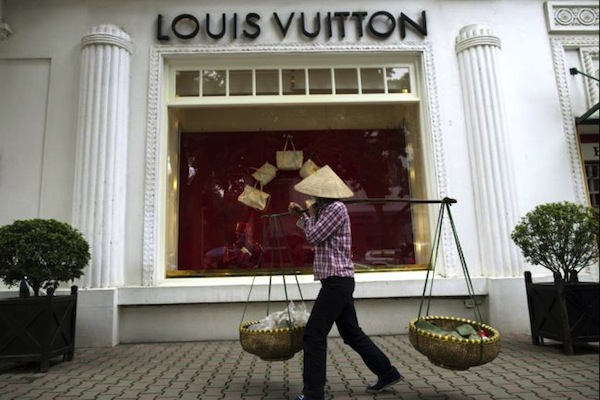 Louis Vuitton in Hanoi, via Paula Bronstein/Getty Images