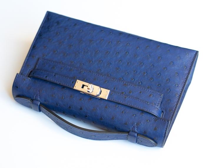 Hermes Kelly Pochette Bleu