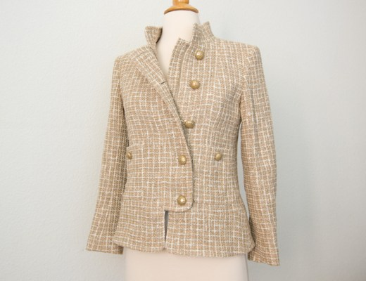 Chanel Beige 15P Jacket Full
