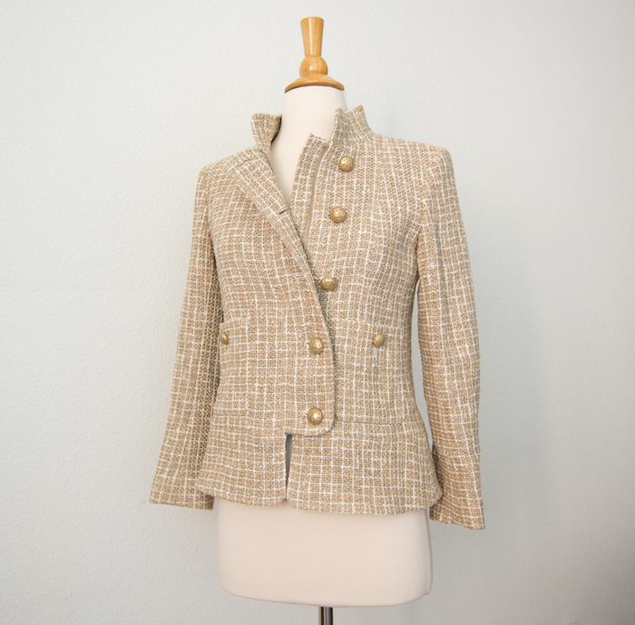 Chanel Beige 15P Jacket Full