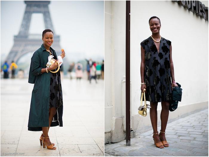 Shala Monroque With Coat