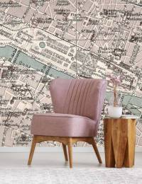 Vintage Paris Map Wall Mural | FEATHR