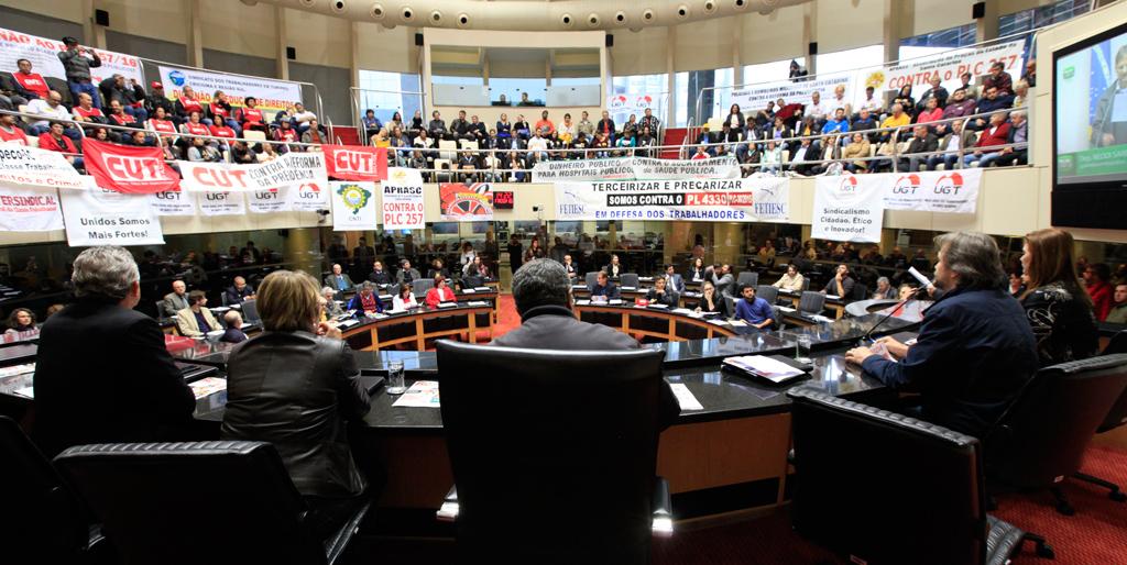 Audiência Pública sobre Direito dos Trabalhadores Previdência Social e Trabalho Escravo/Fotos: Eduardo Guedes de Oliveira-Alesc