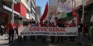 A maior greve geral de Santa Catarina