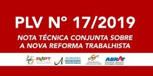 Entidades representativas de classes emitem nota técnica conjunta sobre a nova reforma trabalhista